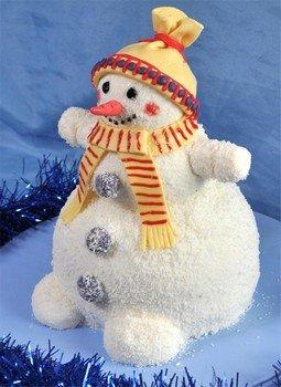 Приготовление новогоднего торта «Волшебный снеговик»