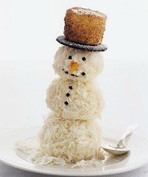 Ингредиенты для приготовления новогоднего торта «Волшебный снеговик» ингредиенты