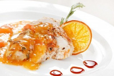 Рецепт куриного филе с апельсиновым соусом