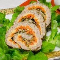 Рецепт мясного рулета с овощной начинкой