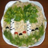 Рецепт салата «Березовая роща»