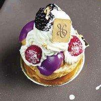 Рецепт вкусного французского ежевичного пирожного