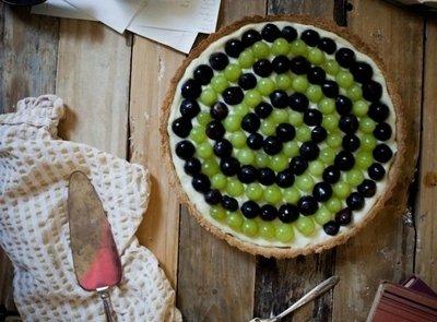 Как приготовить виноградный тарт с кремом и вином