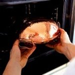 Ставим катаплану в разогретую заранее духовку