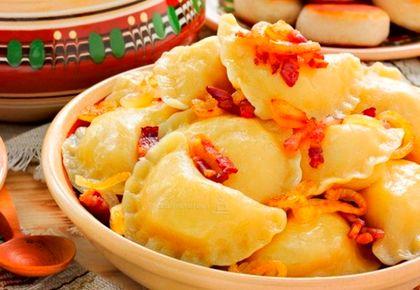Готовим дома вареники с картофельно-грибной начинкой на пару