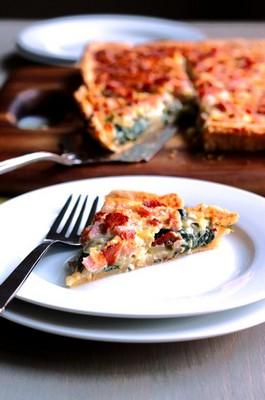 Рецепт итальянского пирога с ветчиной и шпинатом