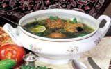 Кюфта бозбаш (Рисовый суп с фрикадельками)