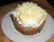 Гречневый салат с сайрой