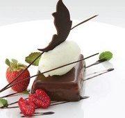 Шоколад с мятным сорбетом